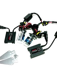 12V 35W H4-2 3000K lampada Xenon HID Conversion Kit Set Con staffa di montaggio (Black Slim Ballast)