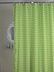 Minimalist Green Polka Dots Shower Curtain