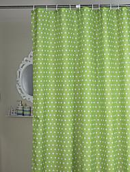 Cortina minimalista Duche Verde Bolinhas