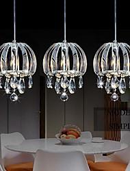 Hanglampen Crystal Metal Electroplated Fashion Modern