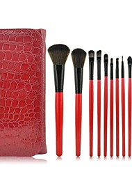 10 Makeup Brushes Set Synthetic Hair Limits bacteria Face / Lip / Eye Others