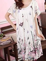 женская лотоса печати свободно ночная рубашка as017