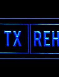 Tx Reh Green Advertising LED Light Sign