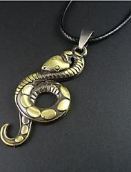 estilo europeu pingente de colar de serpente