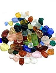 100g Pierres décoratives en cristal coloré pour la décoration d'aquarium