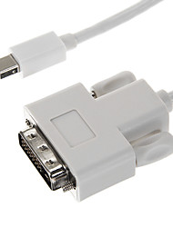Thunderbolt Male naar DVI Male White Video kabel voor MacBook (180cm)