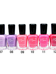 French Imports Makings Pro-environment Nail Polish NO.7-12(16ml,Assorted Color)