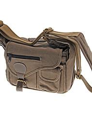 BB48 Canvas Bag for Universal Camera 27 x23 x13 cm(Black-Grey,Brown)