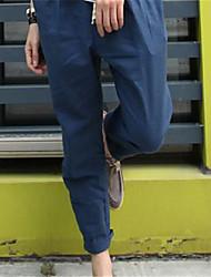 calças Haroun esportes dos homens de linho materiais dos homens urbanos
