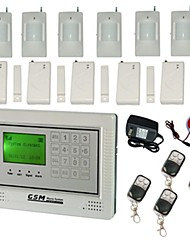 GSM Wireless Wired Home Burglar Security Alarm System Touch keypad