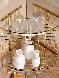 Gold-plating Brass Material Bathroom Shower Baskets