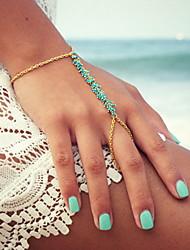 Bracelet Charmes pour Bracelets Bracelets Bagues Alliage Résine Autres Original Mode Soirée Quotidien Décontracté Bijoux Cadeau Doré Bleu,