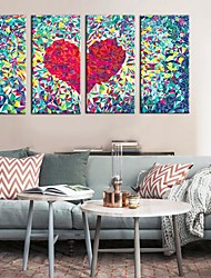 Stretched Canvas Art Abstract Love Set of 4
