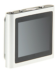 "topo 1.8 ""multi-touch rádio fm tela clip-on 8gb mp4 player (prata)"