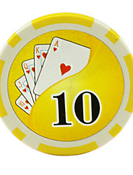 $ 10 jetons jaunes 15g abs de mahjong divertissement jouets
