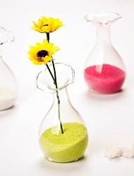 figura del fiore chiare deocrations tavolo vaso di vetro superiori (sabbia non incluso, fiori escluse)