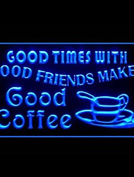 Good Times Amico Coffee Pubblicità Light LED Sign