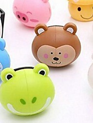 Cute Cartoon Sucker Toothbrush Holder,Plastic Set 1 PC (Random Color)