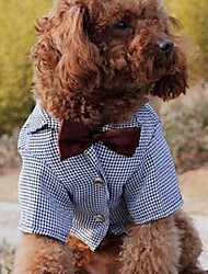 New Plaid Suit Tie Wedding Dress  for Pet Dogs(Assorted Size)