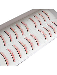 10Pairs Natural Looking Handmade Red Lengthening  High-grade Chemical False Eyelashes