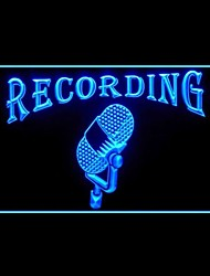Recording Air Radio Advertising LED Light Sign