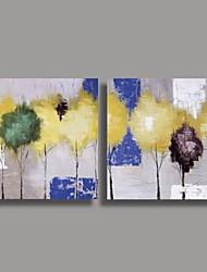 Ручная роспись маслом Современный Аннотация с растянутыми кадр Набор 2
