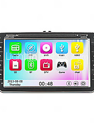 "8 ""2 din lettore dvd auto per volkswagen con touchscreen, GPS, RDS, iPod, bluetooth, can-bus"