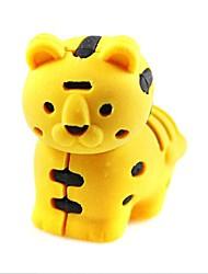 мило detachablelittle тигр образный ластик (случайный цвет х 2 шт)