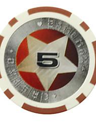 Puces $ 5 pentagramme abs de mahjong jouets de divertissement
