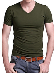 Men's Fashion V-neck Short Sleeve T-Shirts