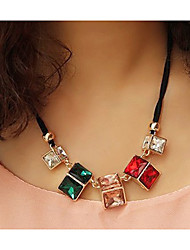 MIKI Colorful Geometrical Gemstone Necklace