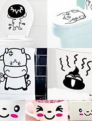 drôles de bande dessinée autocollants gratuits en plastique environnementale desigh (x1pcs de couleur)