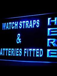 Ремешки батареи установлены реклама привело свет знак