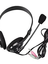 YuanBoTong PE-169 200 centímetros 3,5 mm ajustável fone de ouvido estéreo Hi-Fi com microfone