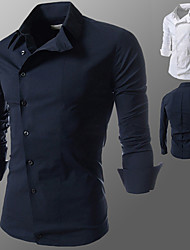 Menmax Moda camisa de manga longa