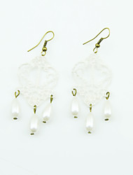 Coolshine Exaggerate Pearl Lace Earrings-2014-201-LSR011
