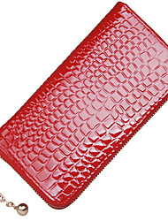 V&Fashion Women's Patent Leather Wristlet  Bag