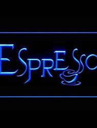 Эспрессо Реклама светодиодные Вход