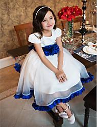 Ball Gown Tea-length Flower Girl Dress - Organza