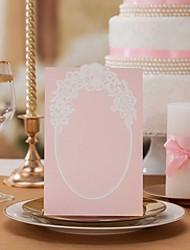 """cartões do lugar e detentores de papel rosa cartão do número da mesa cartão-set 'doce amor """", de 10 de"""