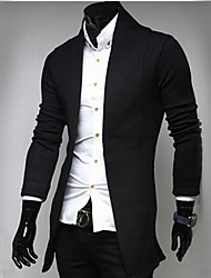 moda casual malha cardigan masculino