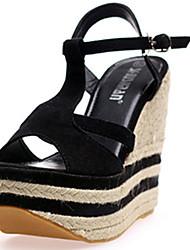 IPIEN Flange Slipsole Sandal (Black)