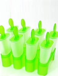 """8 pcs DIY crème glacée Pop Mold Popsicle Maker (couleur aléatoire), plastique 5.6 """"x5.4"""" x5 """""""