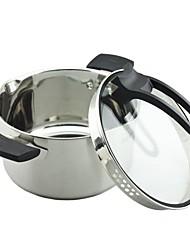 """Em aço inoxidável Bayco ® Sopa Pote com tampa de vidro, 8.6 """"x4.9"""""""