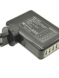 6 Hubs USB détachable chargeur mural intérieur pour iphone / ipad et samsung (5v 4a max, prise eu)