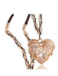 Elizabeth corazón rosa suéter cadena