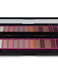 Naras professionale 12 colori della palette di trucco opaco&palette shimmer ombretto con specchio&doppio attacco spazzola 01 #