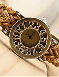 Miya 2014 Weaving Leather Cut Out Vintage Bracelet WatchSH-0108