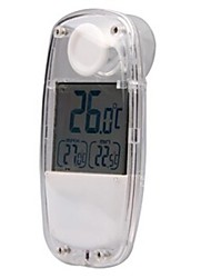 Indoor & Outdoor 1,5'' LCD Solaire Thermomètre - Blanc TS-W32