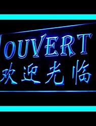 Bem-vindo Ouvert Buffet Publicidade LED Sign